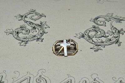 Vintage Antique 10K Gold Mini Cross Pin Brooch Christian Religious Jewelry