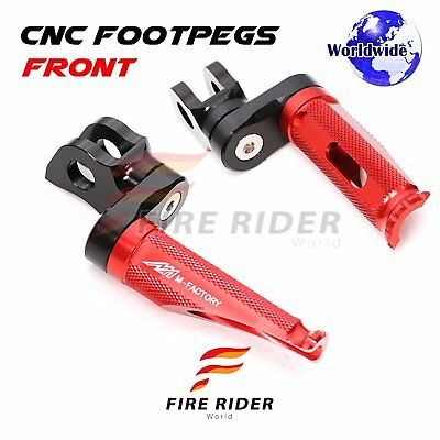 For MV Agusta Brutale All Year Adjustable Front Foot Pegs RED