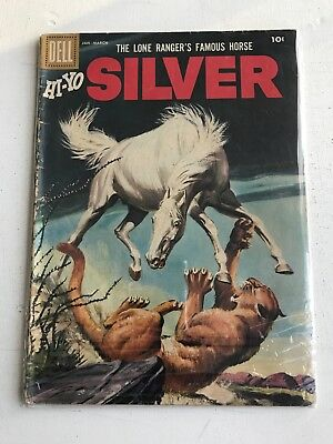 """Lot Of 2 Early Dell 10 Cent Comic """"hi-Yo Silver""""  & The Lone Ranger"""