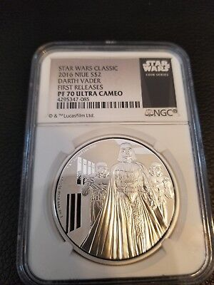 Star Wars 2016 Darth Vader, First Releases, PF70 Ultra Cameo, One Ounce Silver