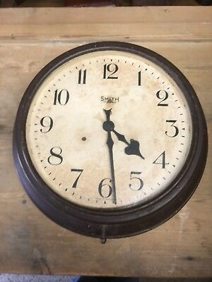 antique smiths lectric factory wall clock