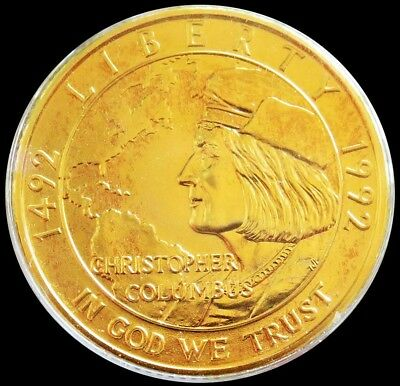 1992 W Gold 8.359 Grams Columbus Quincentenary $5 Commemorative Coin In Capsule