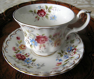 """Royal Albert Cup and Saucer """"Jubilee Rose"""""""