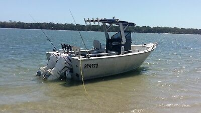 CUSTOM 6.0 METER PLATE ALLOY CENTRE CONSOLE BOAT with TRAILER