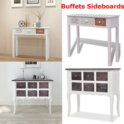 Wooden Storage Cabinet Sideboard Buffet Cupboard Bedroom Drawers Console Table