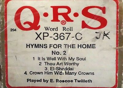 QRS PIANO / PIANOLA ROLL - 'HYMNS FOR THE HOME' No. 2