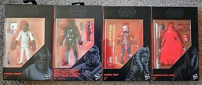 Star Wars Black Series Death Trooper Ackbar Ahsoka Tano Emperor Guard Figures