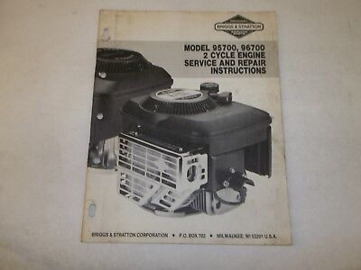 Briggs & Stratton 95700 96700 2 cycle engine service and repair instructions