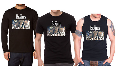 THE BEATLES ABBEY ROAD Men's Shirt Long Sleeve T-shirt Tank Top Rock Band Vest