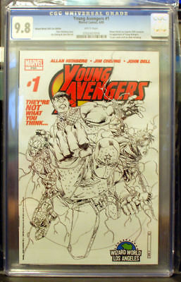 YOUNG AVENGERS 1 Variant Cheung Sketch Cover CGC 9.8 1st KATE BISHOP