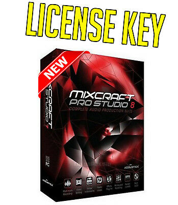 Acoustica Mixcraft Pro Studio 8.1 Full 🔑Lifetime License🔑 INSTANT DELIVERY📨📨