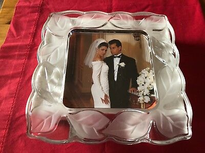 Nib Bridal Fifth Avenue Crystal 8 X 10 Narcissus Frosted Picture