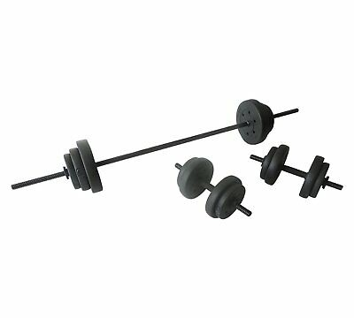 New Pro Fitness Opti Vinyl Barbell Bar Dumbbell Dumbell Weight Weights Set 50kg