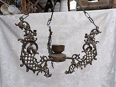 Antique French Church Chandelier - circa 1890 - Antique Chapel Lighting Fixture