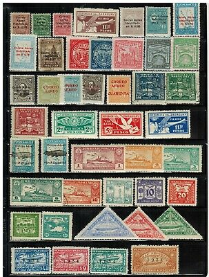 Lot of Paraguay Airmail Old Stamps MH/Used