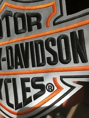 Harley Davidson Reflective Bar And Shield Patch XXL
