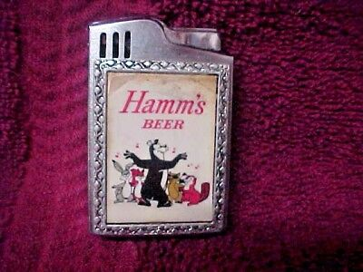 Hamms Bear With Friends Musical Lighter Rare Very Animated By Blue Bird
