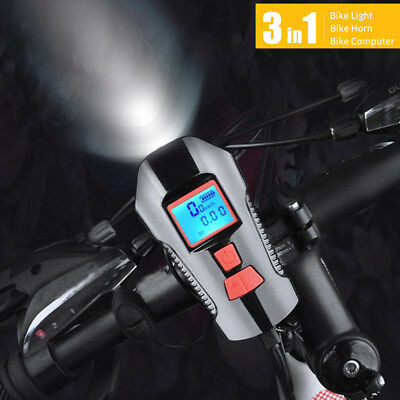 Cycling Bicycle Light USB Rechargeable Electric Horn Bike Computer