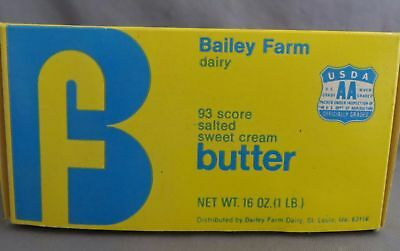 Vintage Butter Carton Bailey Farm Dairy St. Louis MO