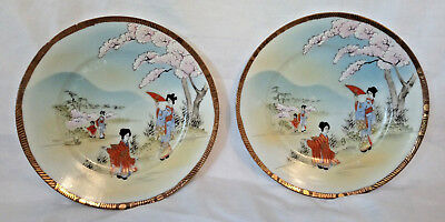 A Stunning Pair of 20th Century Japanese Plates