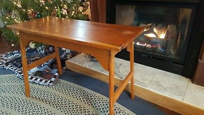 Vintage Cherry Wood Sewing End Table