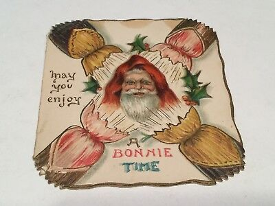 Antique Christmas Card German Santa Claus A Bonnie Time Frederick Langbridge