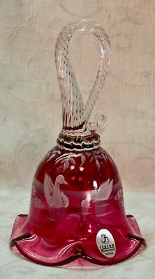 Fenton, Bell, Mary Gregory Collection 2000, Cranberry Glass, Limited Edition.