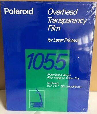 Polaroid 1055 Overhead Transparency Film for Laser Printer 50 Sheets 8.5x11