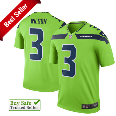 7ae7b1c56 Russell Wilson Jersey 🌟 Seattle Seahawks 🌟 Mens Football Color Rush Jersey  - M