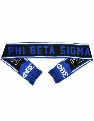 Phi Beta Sigma blue white Scarf Mens blue white fraternity scarf 1914 GOMAB #1