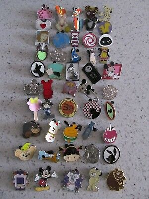Disney Trader Pins Lot of 50 Disneyland Disney World Lanyard Pins