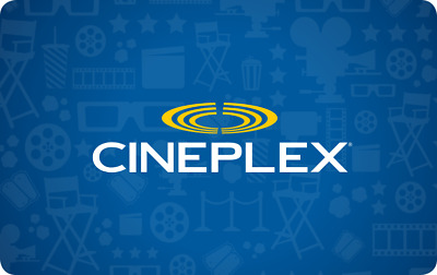 $15 CinePlex Gift Card (1 Hour or less Delivery Electronically)