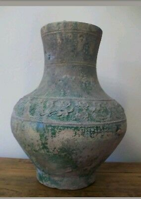 Large Antique Chinese Han Dynasty Pottery Hu (206BC -220AD)