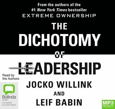 NEW The Dichotomy Of Leadership By Jocko Willink CD in MP3 Format Free Shipping