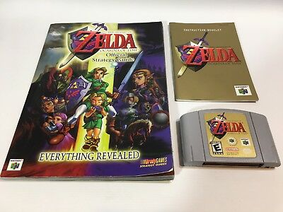 N64 Legend Of Zelda: Ocarina Of Time w/ Booklet and Full Strategy Guide *TESTED*