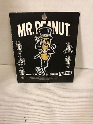 New Mr. Peanut Posing Vintage Embroidered Patch Planters Peanuts