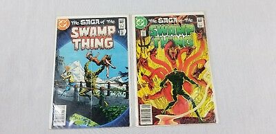 DC Comic Saga of Swamp Thing #12 #13 1983 Bronze Age Ungraded Collection Book