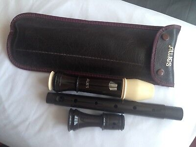 Aulos Alto Recorder, Tuned To F, Complete With Case