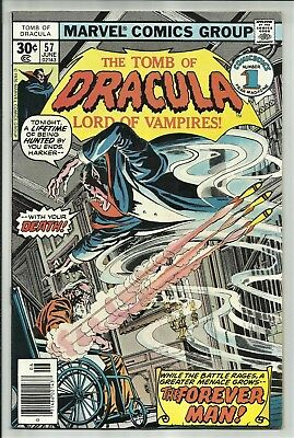 The Tomb Of Dracula #57 1977 Marvel Bronze Age Horror! 1St Forever Man App! Fn+