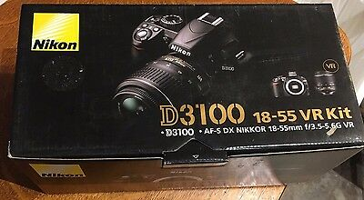 Nikon D3100 14.2MP Digital SLR Camera with 18-55mm f/3.5-5.6 AF-S DX VR Lens NEW