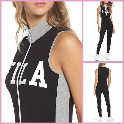 eeb412d9bd1 NEW FILA HIGH Neck Unitard Legging Jumpsuit With Front Zip LW171XS9 ...