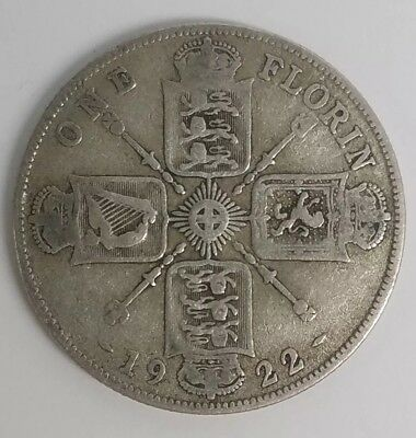 1922 Great Britain Florin Silver Foreign Coin