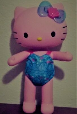 """Rare Collectable!!!! Hello Kitty Mermaid 13"""" poseable doll (bathing suit only)"""