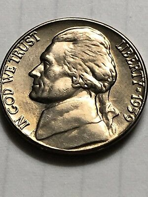 1959 BU uncirculated jefferson nickel full steps!! Gem Coin Low Shipping Lot M62