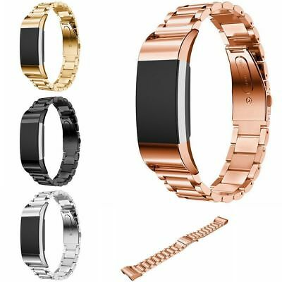 Replacement Wrist Band For Fitbit Charge 2 Stainless Steel Metal Strap Bracelet