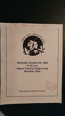 Ohio Fall Quality Holstein Dairy Cattle Sale Catalog 1993 Wooster Ohio