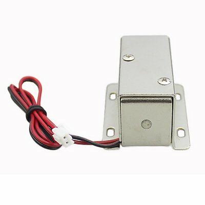DC 12V File Display Cabinet Drawer Latch Assembly Solenoid Electric Lock R1