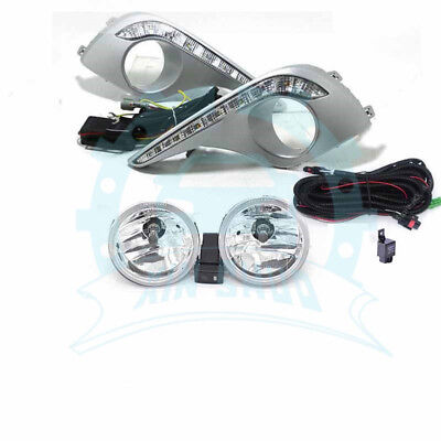 Clear Lens LED DRL Lamp Fog Light Wiring Assy For Toyota Highlander 2011-2013 LB