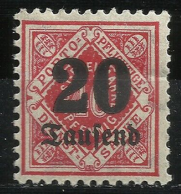 Germany Wurttemberg 1923 Official Scott #o79 Mh