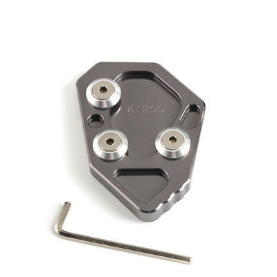 Gray Side Stand Kickstand Extension Plate Pad For BMW K1200S K1200R 2005-08 2006